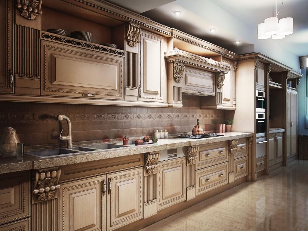 ClassicKitchen 10 1024x768 Дизайн фасадов кухонных шкафов 60 фото