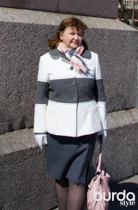 Втачивание отложного воротника в пальто
