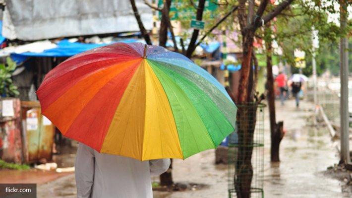 Сотни геев с радужными зонтиками заблокировали Раду