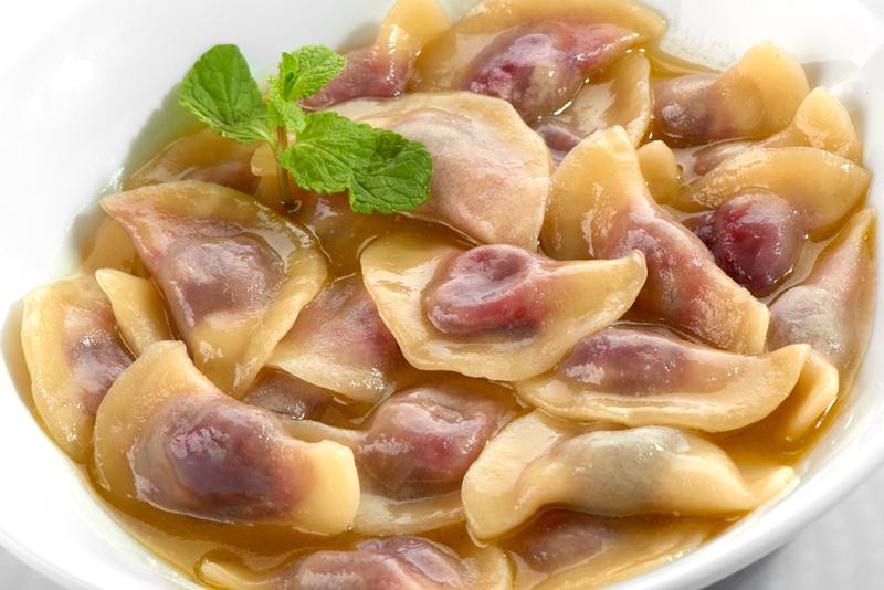 Рецепт вареников с виноградом