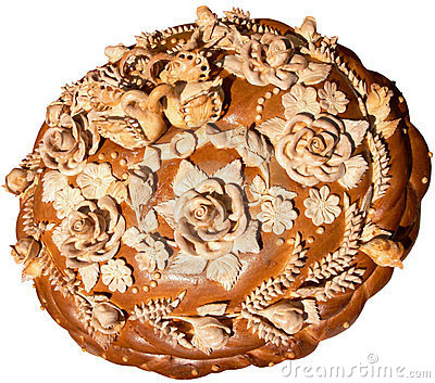 Isolated Ukrainian festive bakery Holiday Bread 8