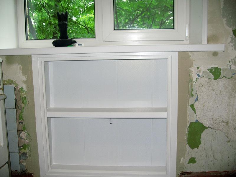 Зимний холодильник под окном отделка своими руками фото 76