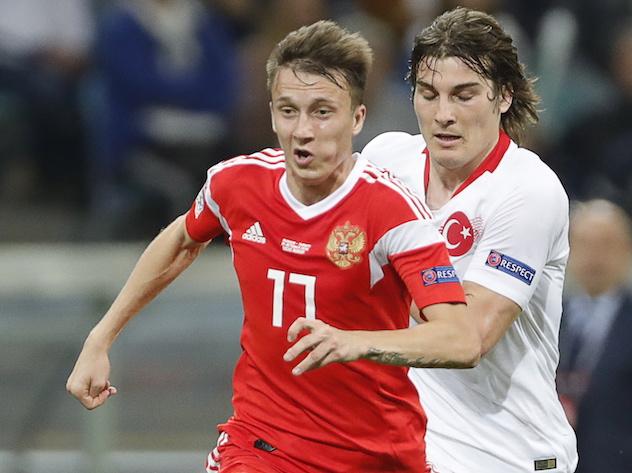 Второй гол в ворота Турции забил Денис Черышев