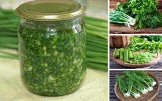 Заготовки из ароматной зелен…