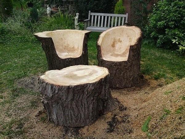 Что можно сделать из дерева на даче своими руками фото