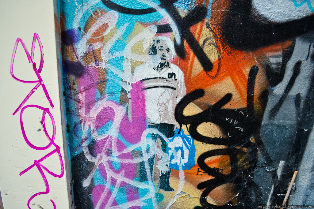 Реальные люди на граффити