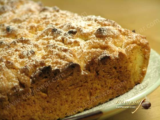 Пирог песочный с повидлом – рецепт с фото, белорусская