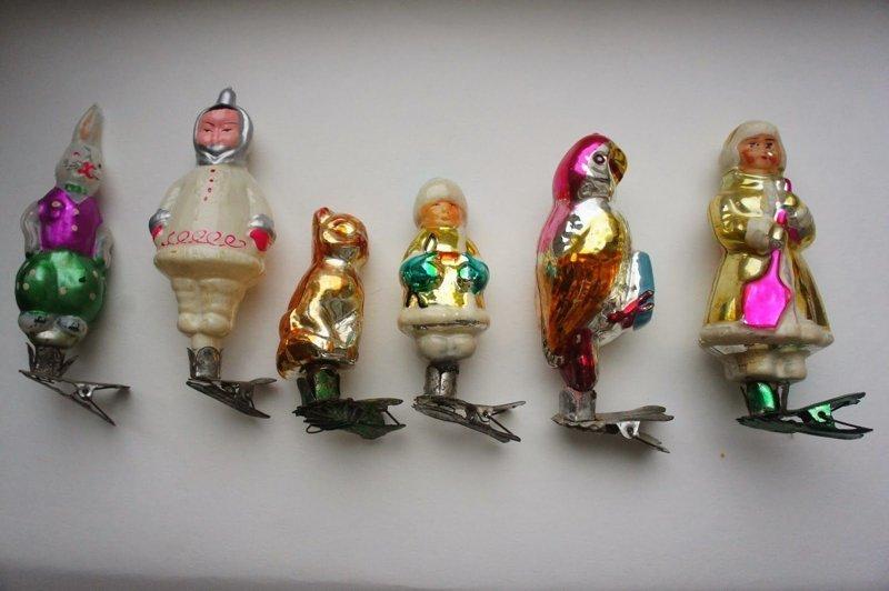 Конечно, у меня их не так много. Вот какие ещё были интересные советские игрушки: воспоминания, новый год, праздник, советские ёлочные игрушки, фото, ёлка, ёлочные игрушки