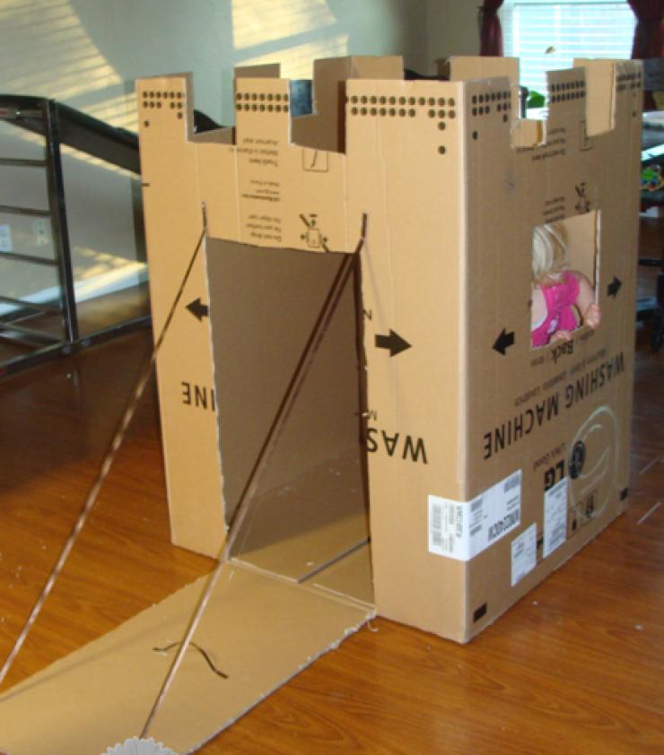 Сделать большую коробку из картона своими руками