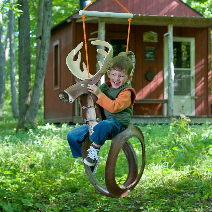 Love this reindeer swing...20 Ideas of How To Reuse And Recycle Old Tires | Architecture, Art, Desings - Daily source for inspiration and fresh ideas on Architecture, Art and Design