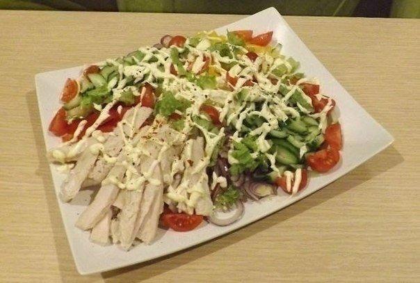 Салаты рецепты куриное филе