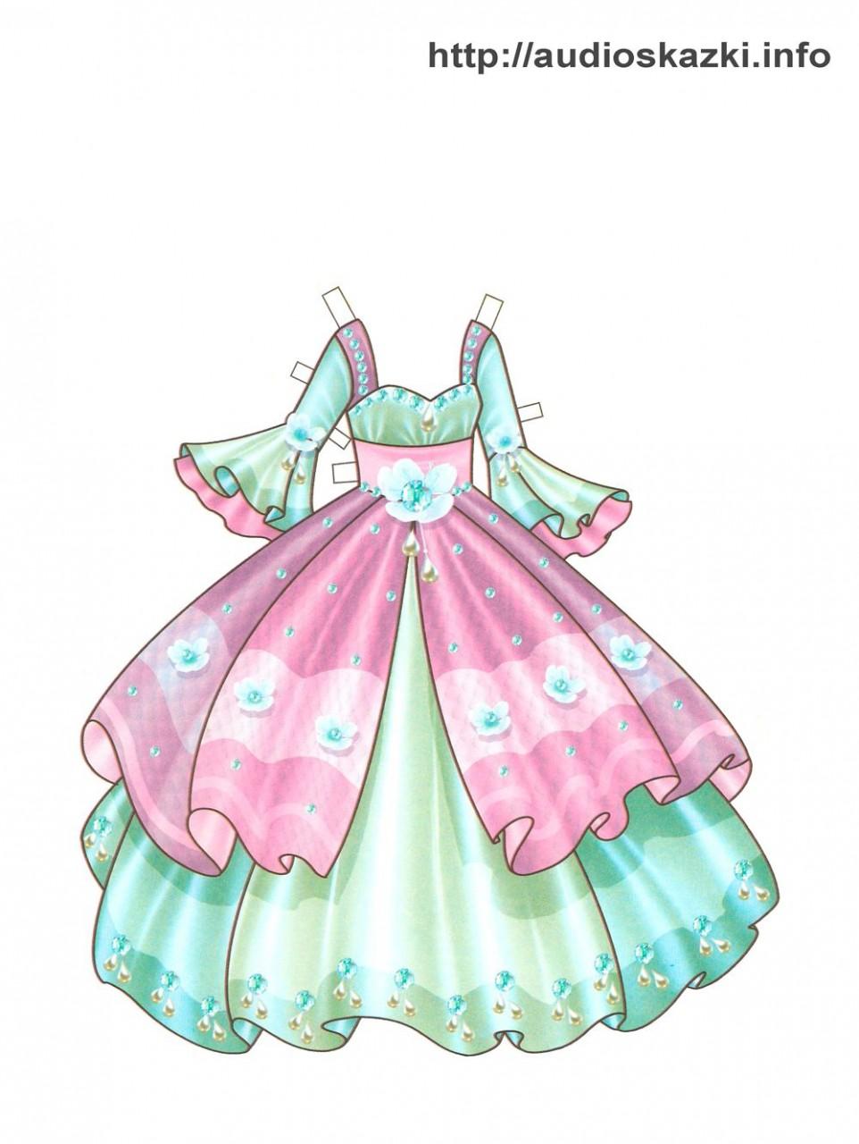 картинки платья для бумажных кукол
