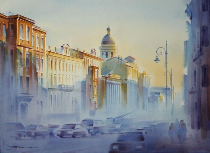 Город проснулся с утра полупрозрачный и светлый!