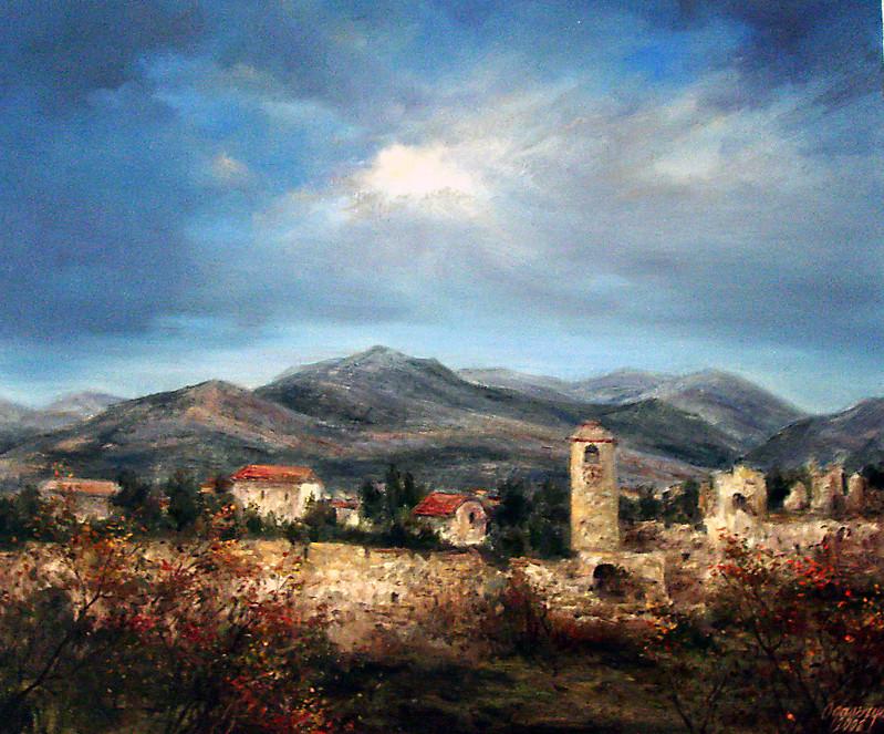 Деревенское раздолье Одальчук, живопись, картины