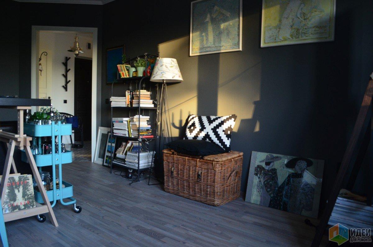 Стильные интерьеры, объединенная гостиная и спальня фото