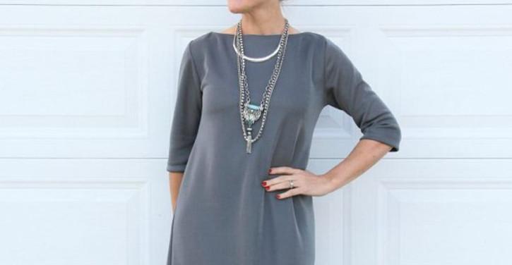 Стильное платье без выкройки своими руками… Кроить? Да это проще простого!