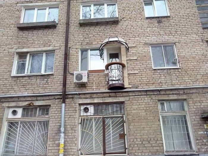 6. Самодельный балкон в Перми балкон, дизайн, креатив