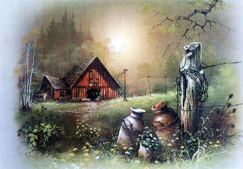 Сказочный уголок, художник Andres Orpinas