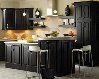 Дизайн черной кухни секреты