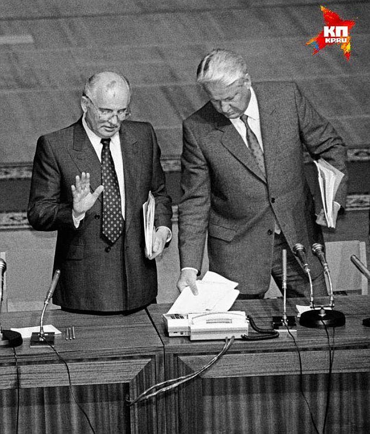Во время конфронтации с Ельциным, Михаил Горбачев как-то заявлял журналистам «КП»: «…потенциал его как политического деятеля все же невелик» Фото: Центр Ельцина.