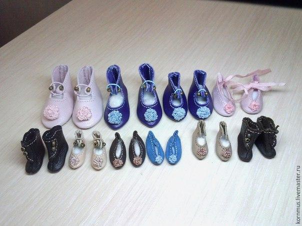 Как сделать маленькую обувь для кукол. Мастер-класс