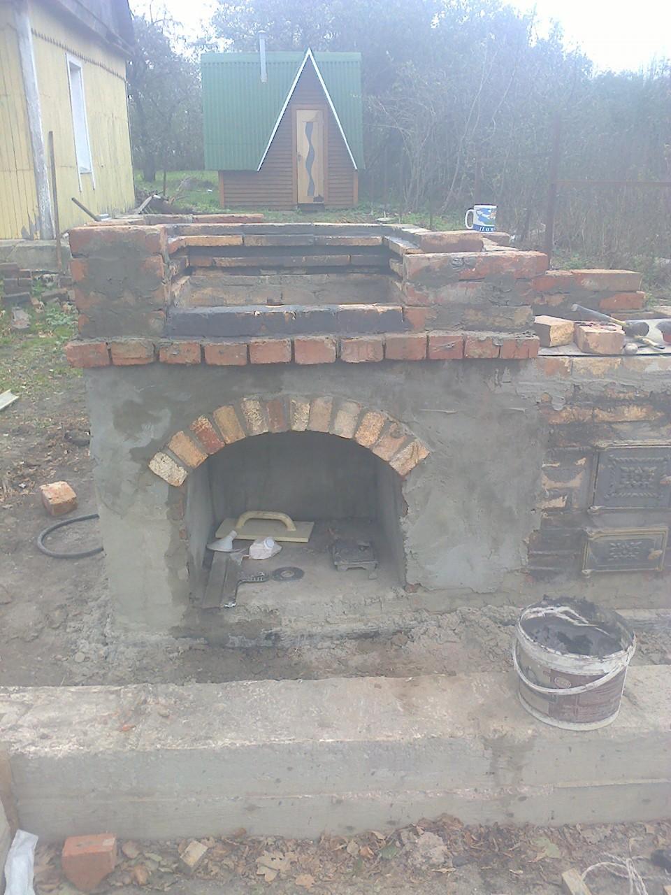 Как я делал печку барбекю на даче