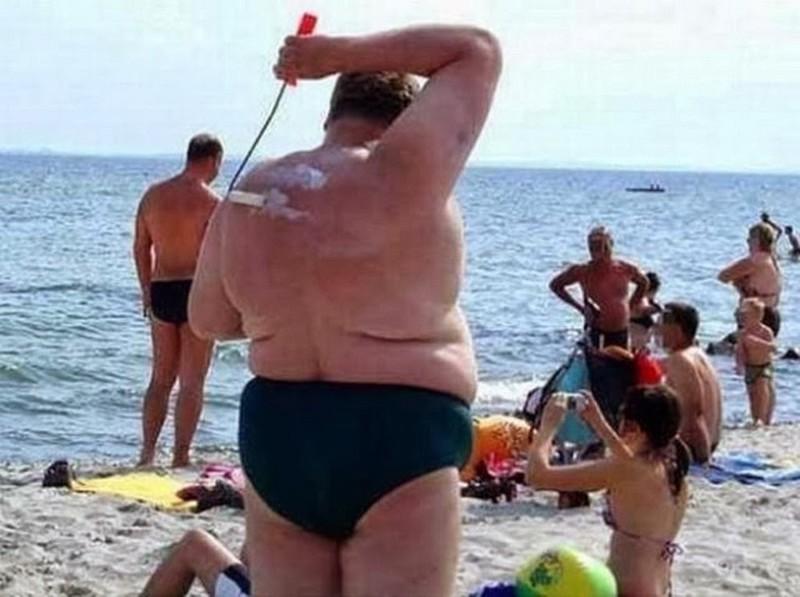 9. Помоги себе сам курьез, пляж