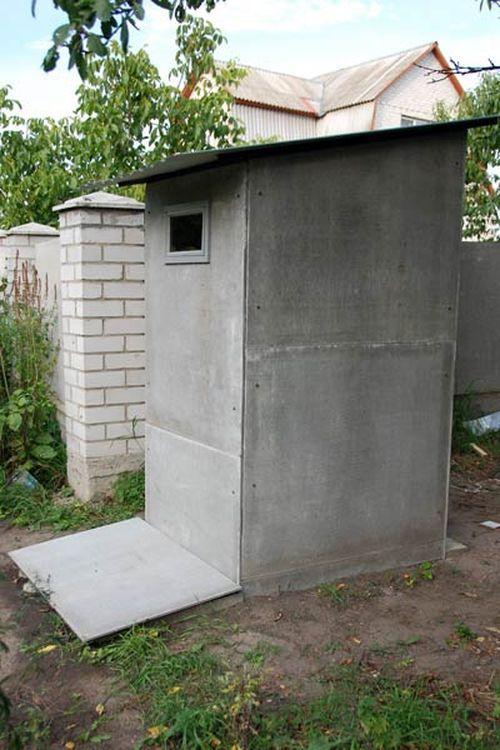 Туалет на даче своими руками с выгребной ямой