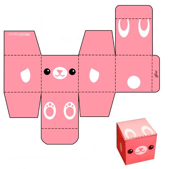 Развёртка коробки для подарка