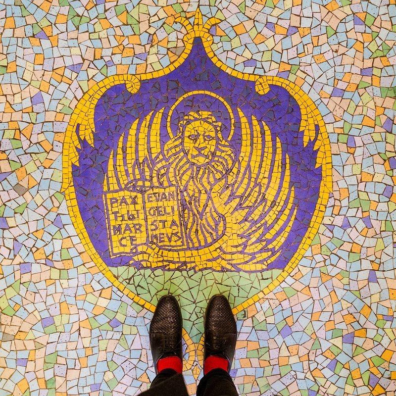 Восхитительные венецианские напольные мозаики