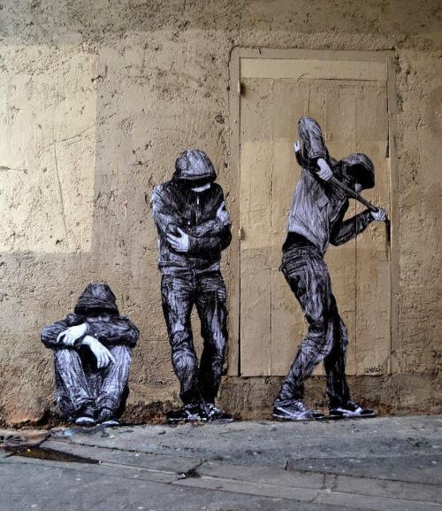 16. Париж, Франция граффити, стрит-арт, художники