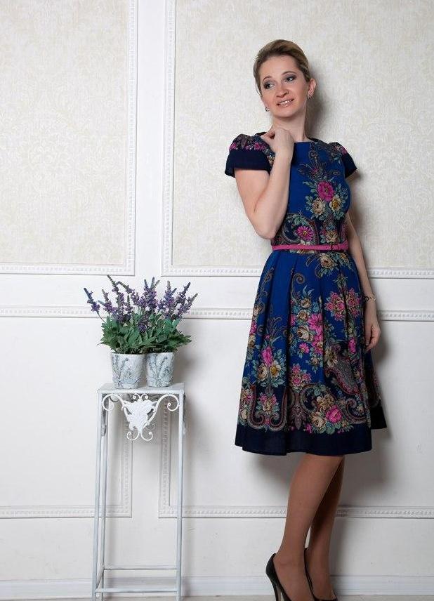 Платье из павлопосадских платков своими руками фото 43
