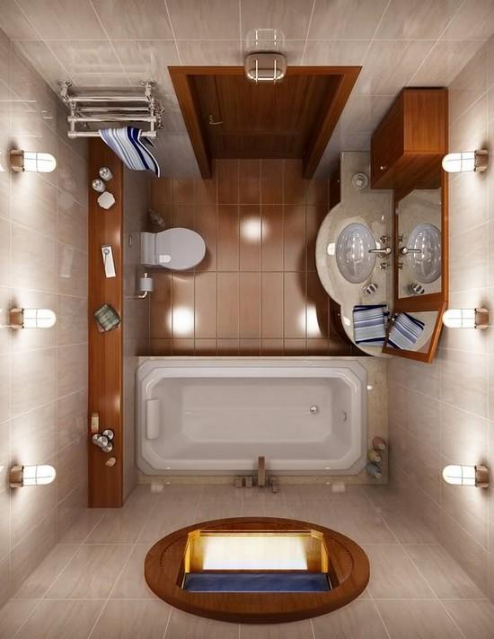 Интерьеры ванных комнат малогабаритных