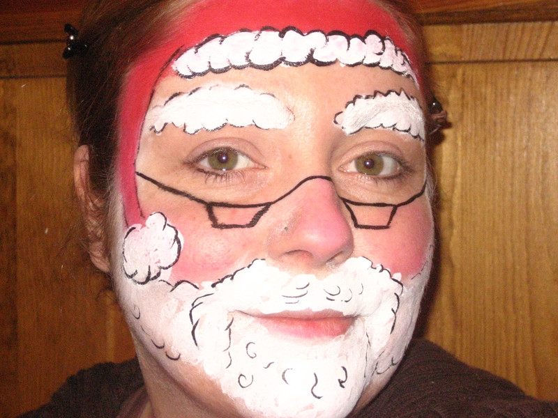 Как можно накрасить лицо на новый год