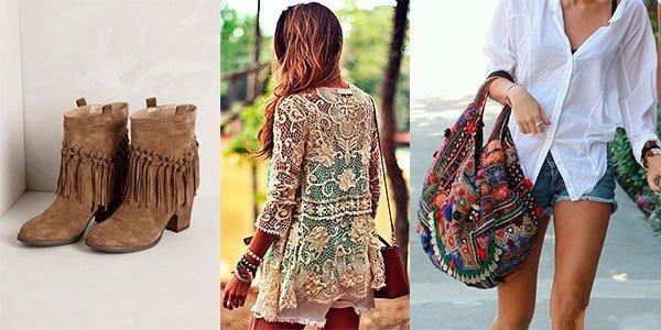 Стиль Бохо в одежде: сапоги, кружевная туника и короткие шорты