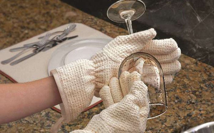 Перчатки для вытирания посуды