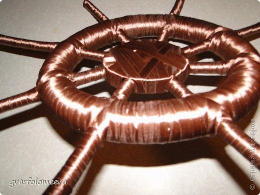 Мастер-класс Поделка изделие 23 февраля Моделирование конструирование Штурвал МК Клей Ленты Ракушки фото 18
