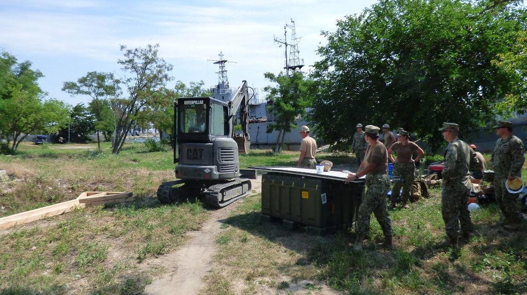 Американские военные ведут строительство оперативного центра ВМС Украины в Очакове