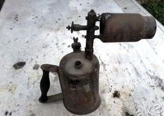 Газовая пушка из паяльной лампы