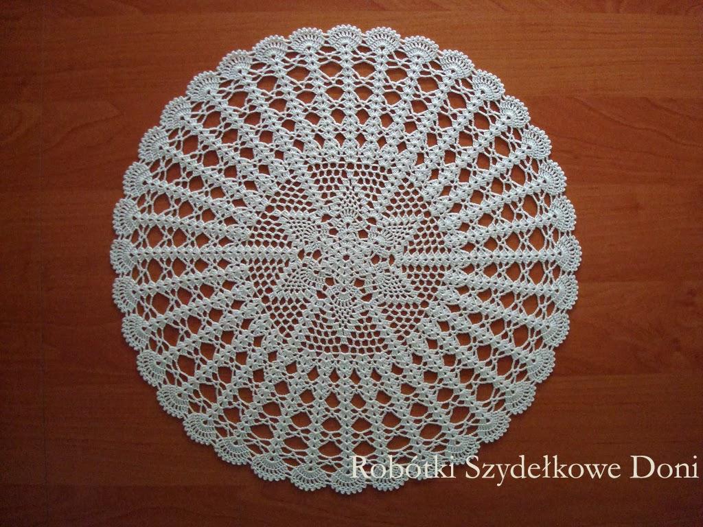 круглые скатерти связанные крючком схемы