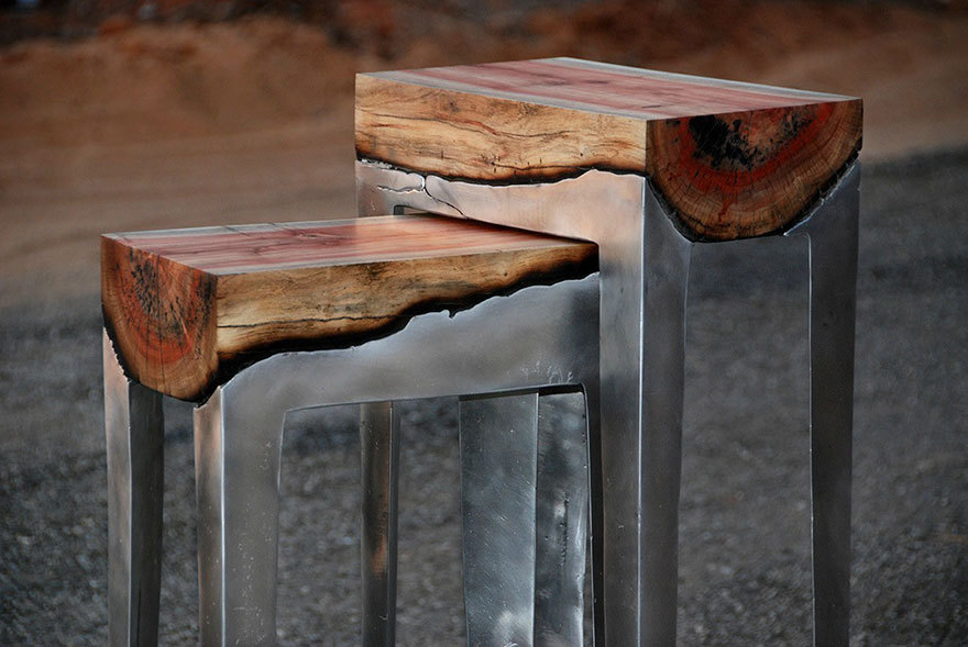 Союз металла и дерева в дизайнерской мебели