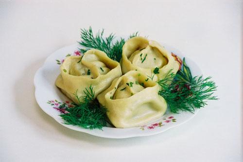 Узбекские манты - сытный ужин!