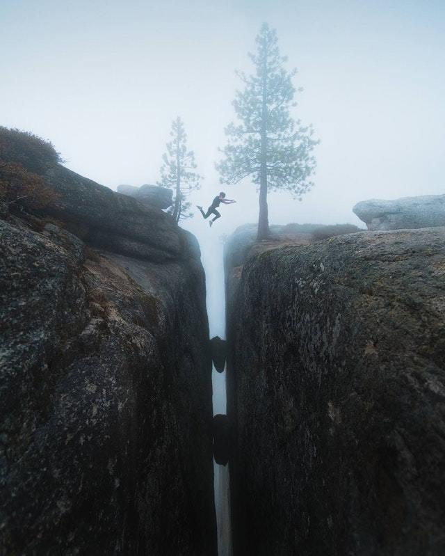 20. Прыжок в Йосемитский национальный парк в мире, высота, кадр, красота, люди, фото