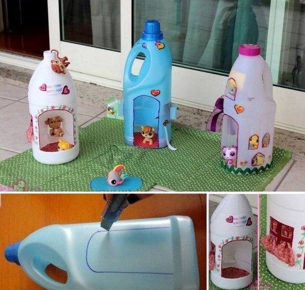 Домик для детей своими руками из пластиковых бутылок