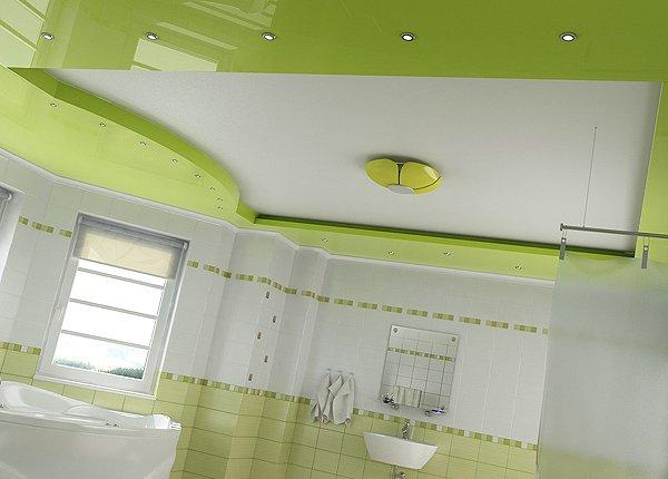 потолок изгипсокартона зеленый