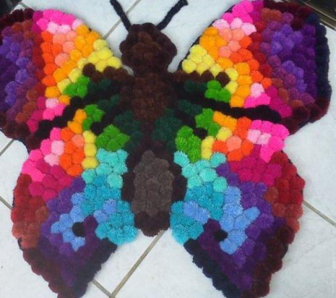 Яркая бабочка - коврик