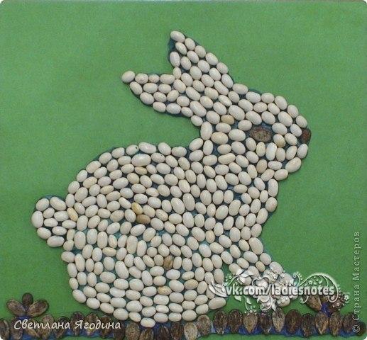 Поделки из семян и крупы своими руками фото