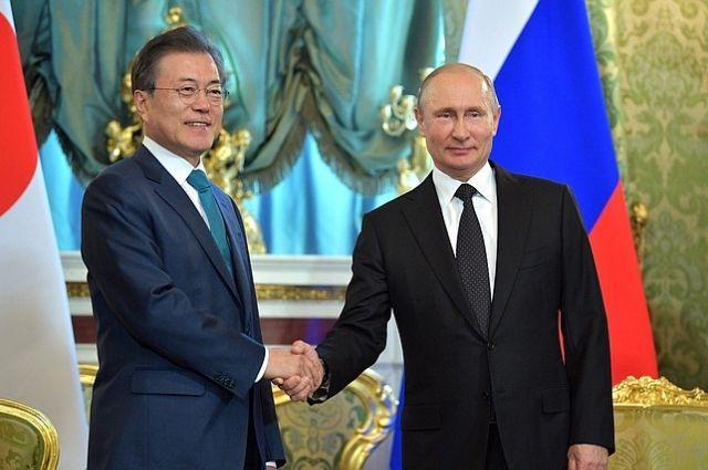 Мун Чжэ Ин пригласил Путина посетить Южную Корею