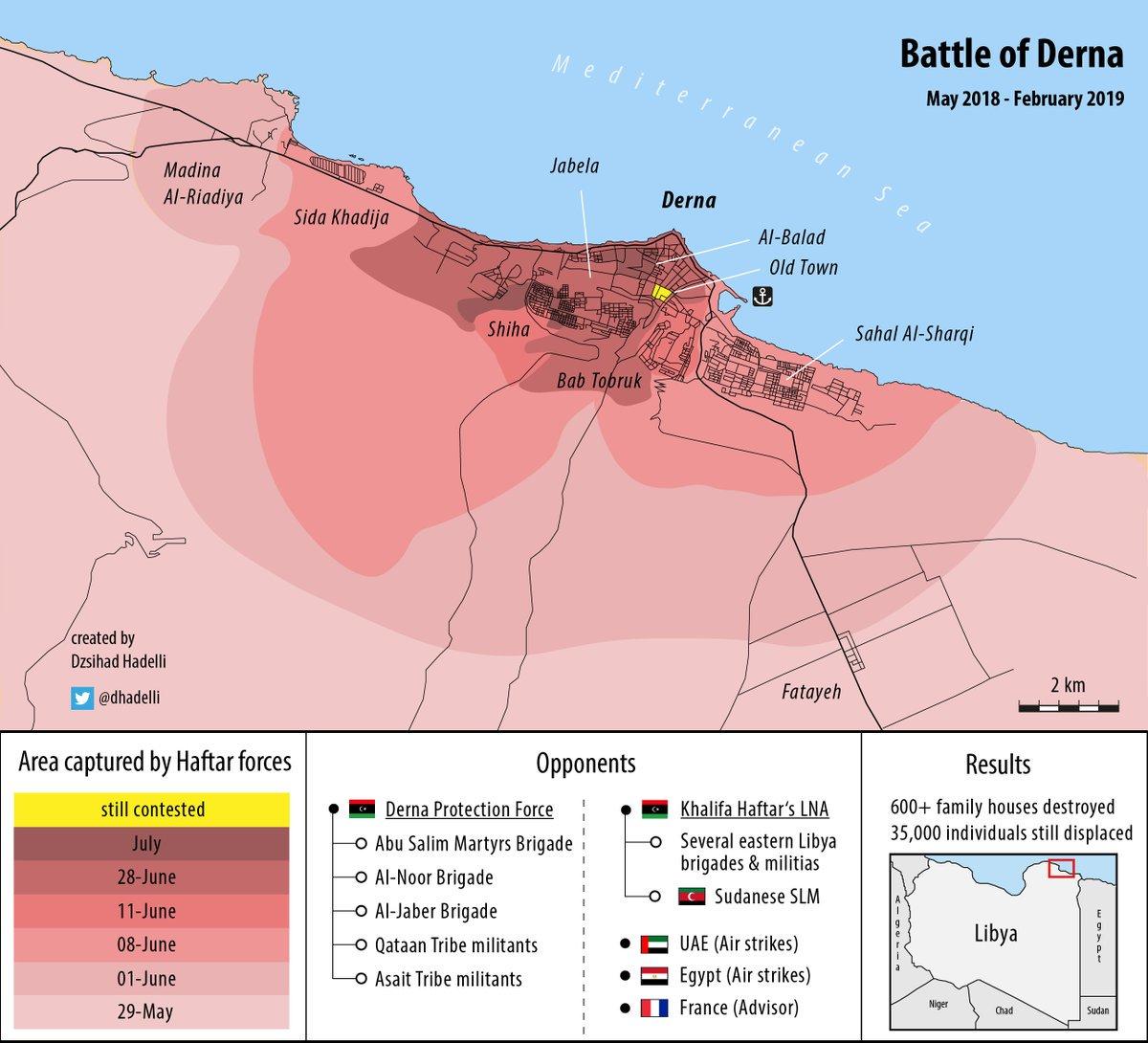 О боях в Дерне