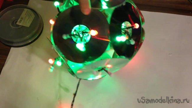 Как своими руками сделать светильник из дисков своими руками